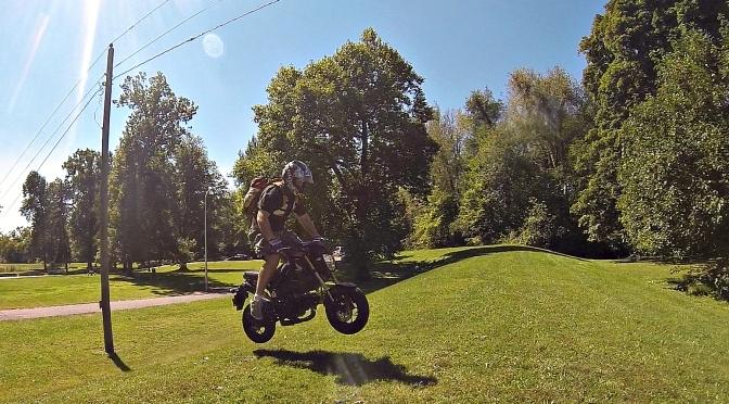 New Honda Grom gets airborne!