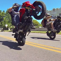 More Honda Grom wheelies and stunts