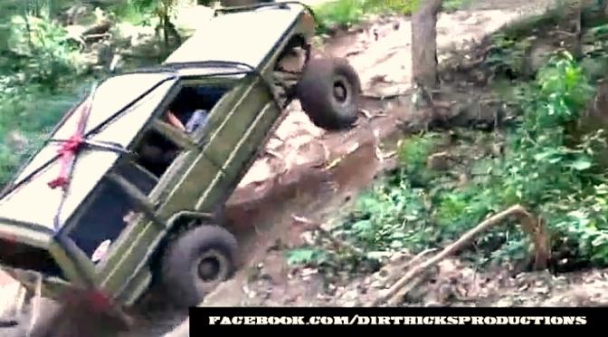 One ton Jeep XJ jumps into tree, doesn't break!