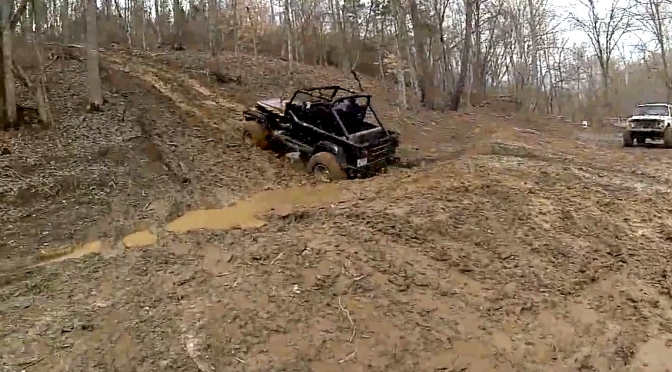 Healthy sounding Jeep YJ Wrangler with a 350 smallblock chevy