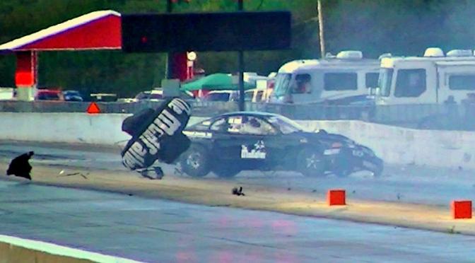 Ronnie Diaz's insane wreck! Modfather Mustang @ NMRA World Finals – Beech Bend Dragway