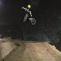 BMX DIRT JUMPS & TRICKS @ LOUISVILLE MEGA CAVERN - LARGEST INDOOR BIKE PARK
