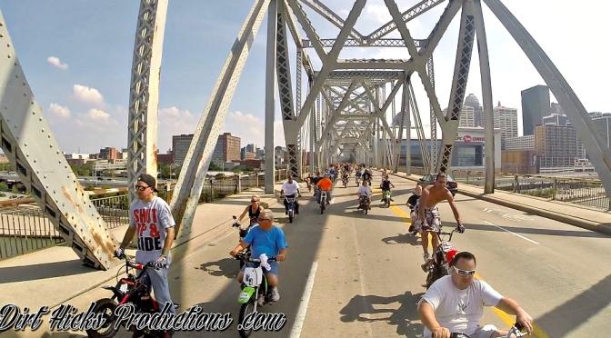 DUDE DATE 2015 – 2ND STREET BRIDGE- GOPRO HERO 4 – LOUISVILLE SKYLINE + 600 BIKES!