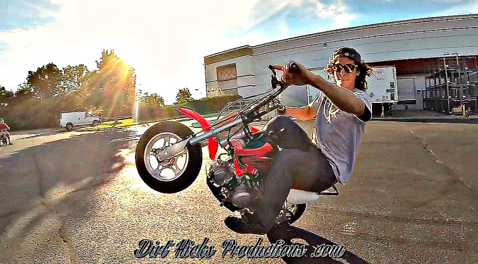AARON COLTON 50CC STUNTS – FIDDY STUNTING – DUDE DATE THROWBACK