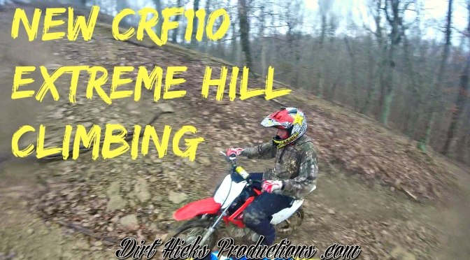 NEW HONDA CRF110 EXTREME HILL CLIMBING – GOPRO ABOARD MY DRZ140 – PIT BIKE RIDING IN THE RAIN