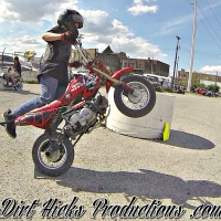 AJ 50CC STUNTS @ RANDO'S RIDE 2016 - CRF50 PIT BIKE STUNTING
