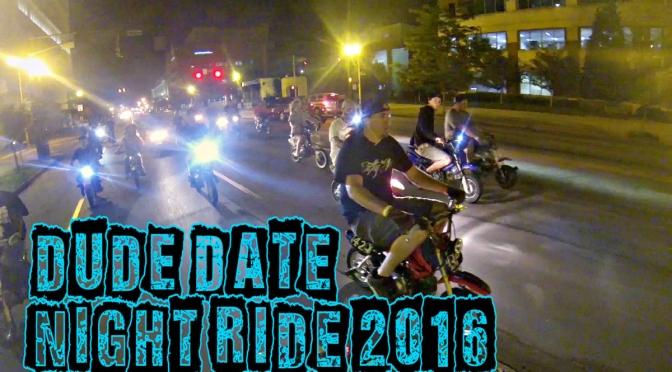 DUDE DATE 2016 – NIGHT HOOD RIDE & SKATE PARK – 50CC, GROM, PIT BIKE STUNT RIDING – LOUISVILLE, KY