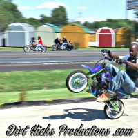 CHRIS SKILLMAN & CAMERON KELM 50cc STUNTS - CRYPTIC INK CAR SHOW 7/9/17