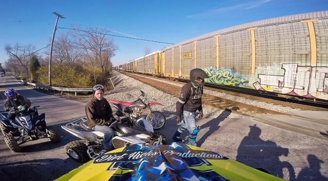 TRAINS & WHEELIES – DECEMBER DUAL SPORT RIDING – DRZ400E LOUISVILLE BIKELIFE