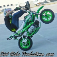 PIT BIKE & GROM STUNTING - INDIANAPOLIS LOT DAY RAW FOOTAGE 2/18/17 - PITBIKE STUNT RIDING