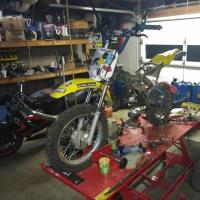 DRZ/KLX 110 - YX140CC ENGINE SWAP - PIRANHA 140 PIT BIKE ENGINE